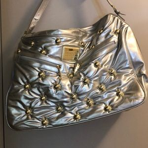 Betsey Johnson Betseyville Silver Travel Tote Bag
